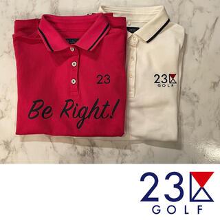 23区 - 23区スポーツ レディース半袖ポロシャツ 2着セット ゴルフウエア 1