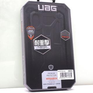 iPhone XR 用 UAG 耐衝撃ケース Monarch ブラック(iPhoneケース)