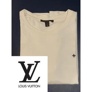 ルイヴィトン(LOUIS VUITTON)のLouis Vuitton 白 ワンポイントフラワー Tシャツ Lサイズ(Tシャツ(半袖/袖なし))