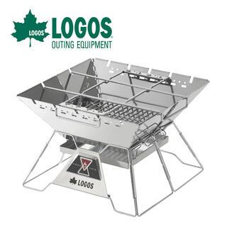 LOGOS - ロゴス LOGOSピラミッドグリルL焚火台+焚火シートセット