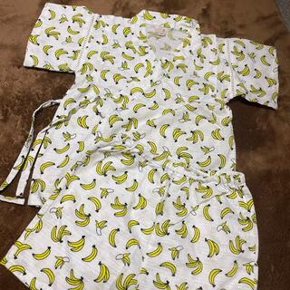 プティマイン(petit main)のプティマイン バナナ柄甚平 110センチ 男の子 浴衣(甚平/浴衣)