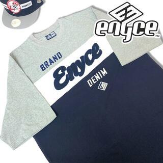 エニーチェ(ENYCE)の00s エニーチェ カラーブロック 半袖Tシャツ ブラウン XXL ENYCE (Tシャツ/カットソー(半袖/袖なし))