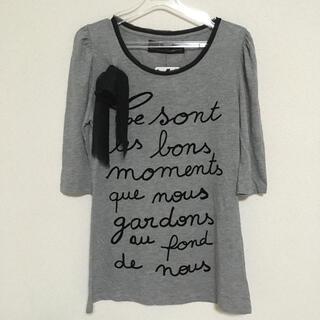 ザラ(ZARA)の即購入OK!新品タグ付き レディース ZARA Tシャツ リボン付き S(Tシャツ(半袖/袖なし))