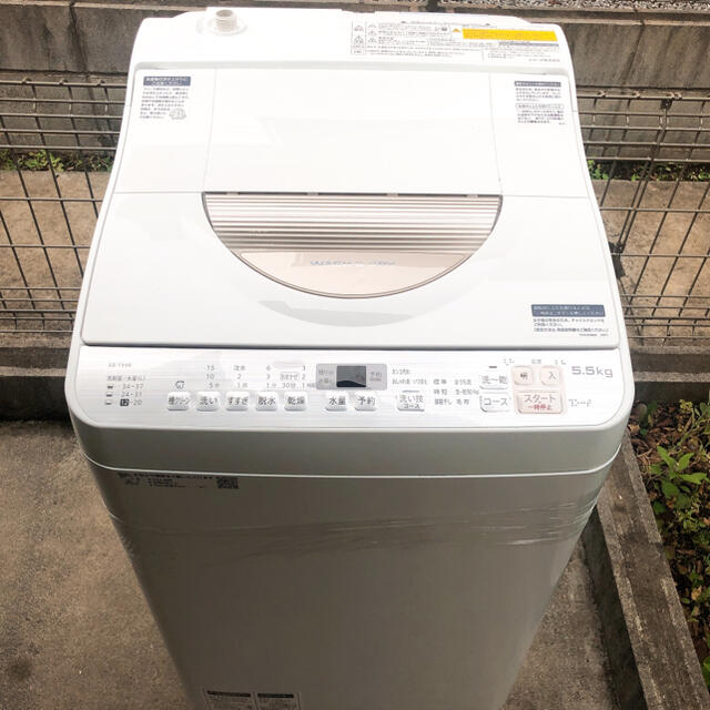 SHARP(シャープ)の美品✨【2018年製】シャープ タテ型洗濯乾燥機 5.5kg ES-TX5B スマホ/家電/カメラの生活家電(洗濯機)の商品写真
