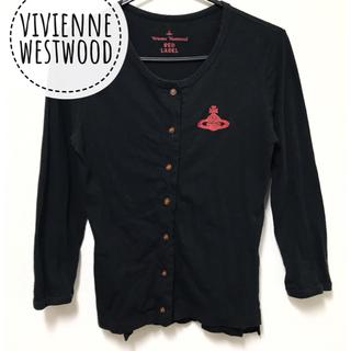 ヴィヴィアンウエストウッド(Vivienne Westwood)のヴィヴィアンウエストウッド【美品】薄手 オーブ刺繍 七分袖 カーディガン(カーディガン)