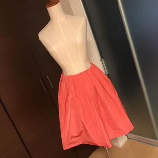 ロペ(ROPE)のROPE サーモンピンクスカート(ひざ丈スカート)