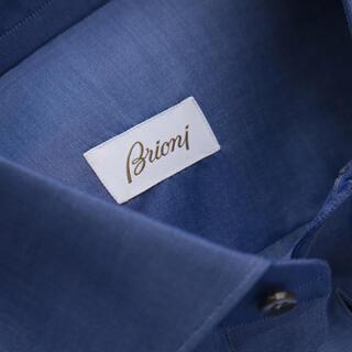 グッチ(Gucci)のブリオーニ ゼファーコットン ブルニコ シャツ サファイア(シャツ)