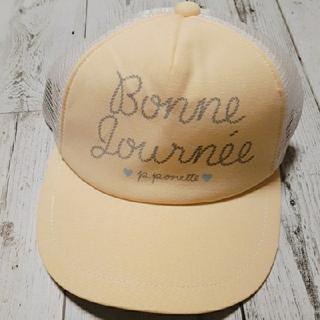 ポンポネット(pom ponette)の【新品】pom ponette  ポンポネットロゴメッシュキャップ  帽子(帽子)