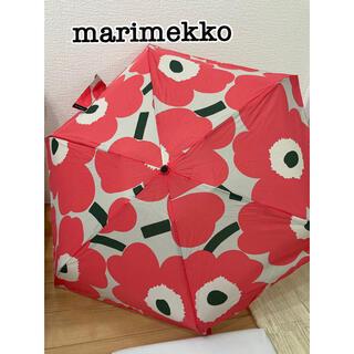 マリメッコ(marimekko)のマリメッコ 折りたたみ傘 ウニッコ 新品未使用(傘)