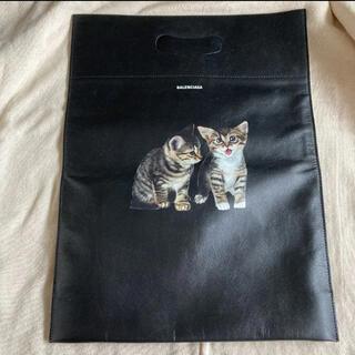 バレンシアガバッグ(BALENCIAGA BAG)の【美品 未使用】バレンシアガ 猫 バッグ 黒(トートバッグ)