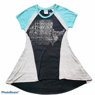ハーレーダビッドソン(Harley Davidson)のHARLEY-DAVIDSON ロングTシャツ ロゴプリント Mサイズ(Tシャツ(半袖/袖なし))