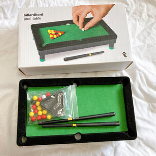 美品 ミニチュア ビリヤード ゲーム おもちゃ ボードゲーム インテリア(ビリヤード)