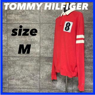 トミーヒルフィガー(TOMMY HILFIGER)のTOMMY HILFIGER トミーヒルフィガー 長袖 ラガーシャツ メンズM(ポロシャツ)