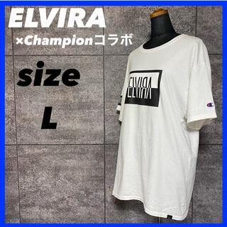 ELVIRA × Champion エルヴィラ チャンピオン コラボ Tシャツ(Tシャツ/カットソー(半袖/袖なし))
