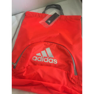 adidas - アディダス サッカー ボール用ナップサック  ボールバッグ オレンジ