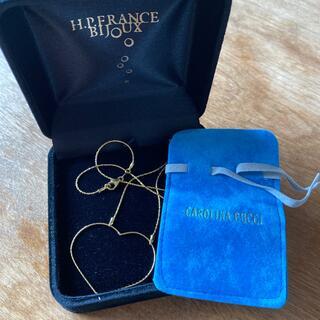 アッシュペーフランス(H.P.FRANCE)のcarolina bucci k18 Au750 オープンハート ネックレス(ネックレス)