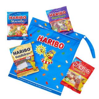 新品未開封HARIBO ゴールドベアバケーションバッグ 320g(菓子/デザート)
