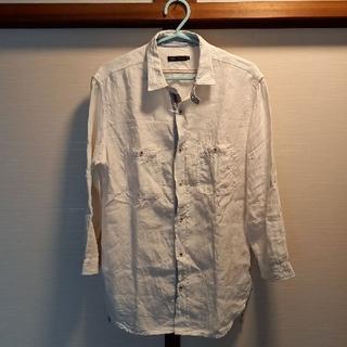 MEN'S MELROSE - お値引きMEN'S MELROSE麻シャツ七分袖白4新品同様