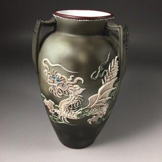 ■ 激レア!!■オールドノリタケ/ドラゴン盛り上げ/花瓶WW1402(花瓶)