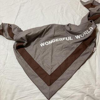 ワンダーワールド(Wonderworld)のワンダフルワールド  茶ギンガムストール (ピンクハウス )(ストール/パシュミナ)