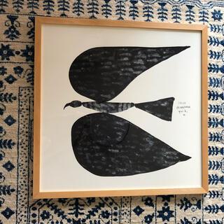 イデー(IDEE)のmosa様 専用 山口一郎【black bird no.1】♪ 額装込ポスター(絵画/タペストリー)