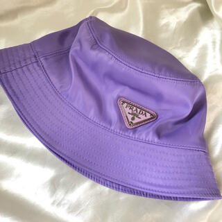 PRADA - PRADA プラダ ロゴ バケットハット パープル 紫 パステル 帽子
