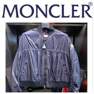 モンクレール(MONCLER)のモンクレール SALE ロゴ付き ネイビー色 ブルゾン(ブルゾン)