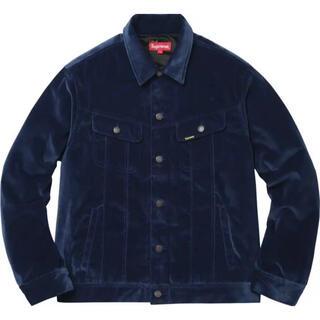 Supreme - supreme velvet  trucker jacket