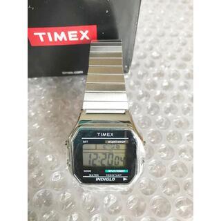 タイメックス(TIMEX)のTIMEX タイメックス インディグロ デジタル 腕時計 未使用 保護シールあり(腕時計(デジタル))