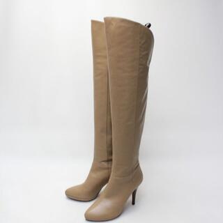 ダイアナ(DIANA)のDIANA 本革 2WAYニーハイロングブーツ(25.5cm)美品(ブーツ)