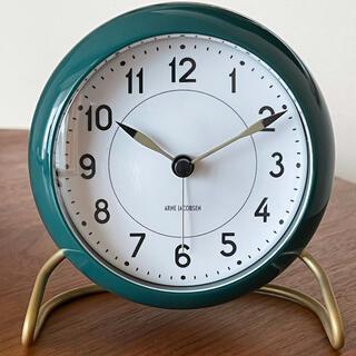 アルネヤコブセン(Arne Jacobsen)の【美品】アルネ ヤコブセン ステーション 置き時計 (置時計)