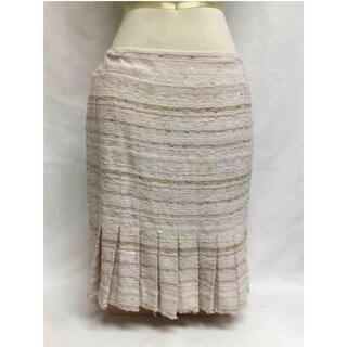 シャネル(CHANEL)のシャネル  ツイード スカート ピンク(ひざ丈スカート)