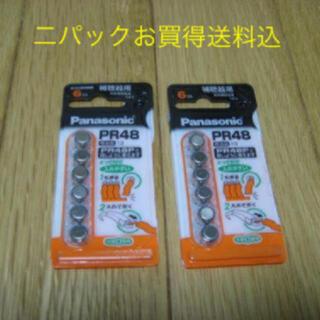 パナソニック(Panasonic)のパナソニック 空気亜鉛電池 1.4V 6個入 PR-48/6P ×2P(その他)