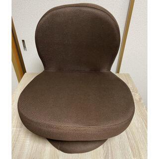 ヤマゼン(山善)の山善 回転座椅子 SAGR-45-D(WDB) あぐら 2つ折り(座椅子)