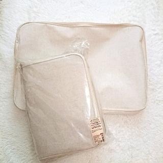 ムジルシリョウヒン(MUJI (無印良品))の未使用◆ 無印良品 ポリエステル綿麻混 ソフトボックス 衣装ケース 2個(ケース/ボックス)