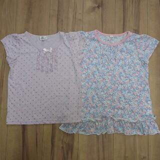 エニィファム(anyFAM)のanyFAM ラベンダー色Tシャツ イオン 花柄Tシャツ2枚セット 120  (Tシャツ/カットソー)