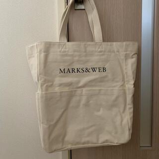 マークスアンドウェブ(MARKS&WEB)の【新品】MARKS&WEB キャンバストートバッグ エコバッグ ホワイト(トートバッグ)