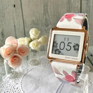 エプソン(EPSON)の【動作OK】Smart Canvas 腕時計 フラワー 花 四季の花々(腕時計)