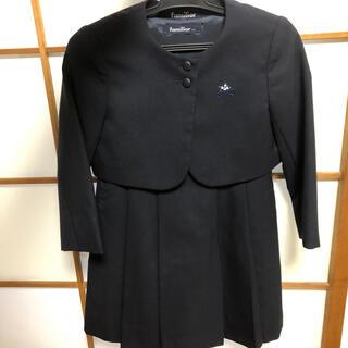 ファミリア(familiar)のファミリア お受験 スーツ 数カ所穴あり 110(ドレス/フォーマル)