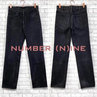 NUMBER (N)INE - NUMBER(N)INE ナンバーナイン ブラックデニム ストレート 日本製