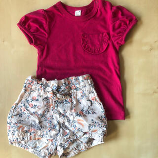 プティマイン(petit main)のプティマイン Tシャツ カットソー ベビーギャップ  パンツ 80(シャツ/カットソー)
