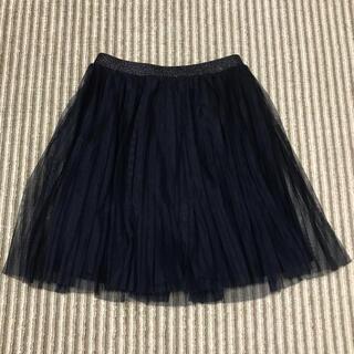 ユニクロ(UNIQLO)のユニクロ チュールスカート プリーツスカート 140センチ(スカート)