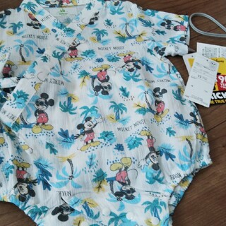 ディズニー(Disney)の新品ミッキーロンパース甚平80cm(甚平/浴衣)
