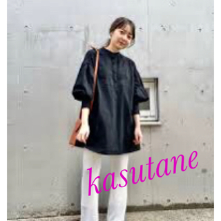 カスタネ(Kastane)のkasutane カスタネ  シャツ ブラウス コットン刺繍カフタンチュニック(チュニック)