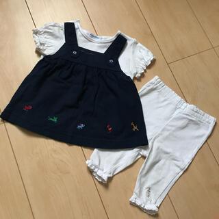 ファミリア(familiar)のファミリア 70サイズ チュニック 半袖 レギンス パンツ ズボン(シャツ/カットソー)