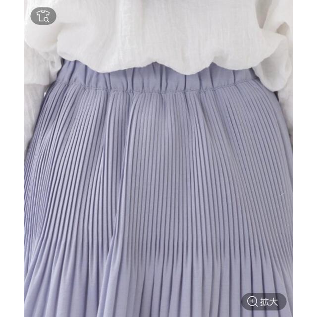 GOGOSING(ゴゴシング)の韓国 Aライン プリーツスカート ブルー レディースのスカート(ミニスカート)の商品写真