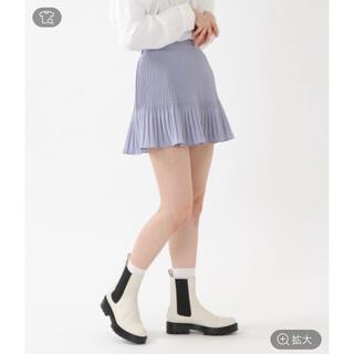 GOGOSING - 韓国 Aライン プリーツスカート ブルー