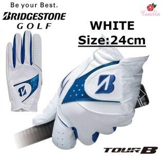ブリヂストン(BRIDGESTONE)の新品 ブリヂストン グローブ 左手用 ホワイト ウォータークール 24cm(ウエア)