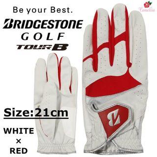 ブリヂストン(BRIDGESTONE)の新品 BRIDGESTONE ブリヂストン ゴルフ グローブ 全天候型 21cm(ウエア)