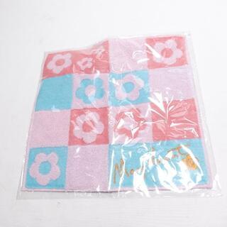 マリークワント(MARY QUANT)の■正方形ハンドタオル MARY QUANT ピンク (タオル/バス用品)
